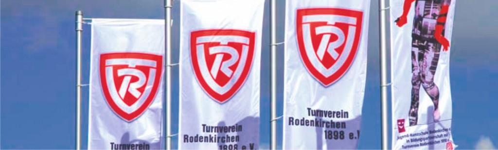 Fahnen mit Mast vom TVR Rodenkirchen